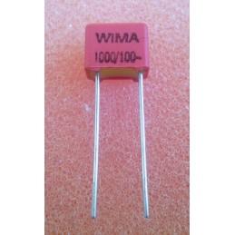 WIMA FKP2 1n 100V 4.5x6x7.2mm 2.5%