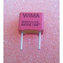 WIMA FKP2 2.2n 100V 4.5x6x7.2mm 2.5%
