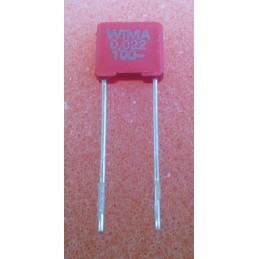 WIMA MKS2 22n 100V 2.5x6.5x7.2mm 10%