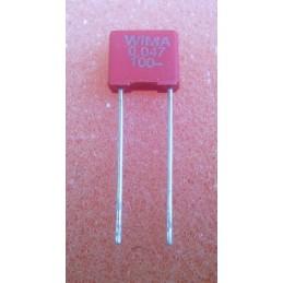 WIMA MKS2 47n 100V 2.5x6.5x7.2mm 10%