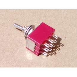 3PDT ON-OFF-ON Toggle Switch