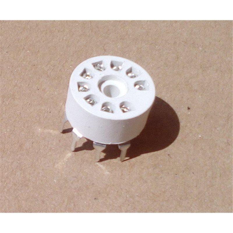 9-Pin Tube Socket PCB mount